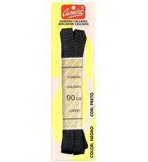 Cordón Calzado Deportivo Plano Negro 90 CM