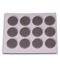 Deslizadores De Fieltro Adhesivos Gris Ø 20 MM 12 Unidades