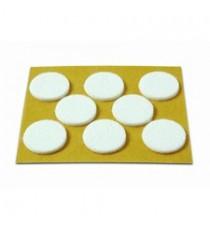Deslizadores De Fieltro Adhesivos Blancos Ø 27 MM 8 Unidades