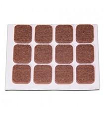 Deslizadores De Fieltro Adhesivos Rectangulares Marrones 20 x 23 MM 12 Unidades