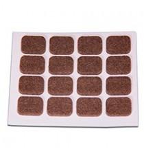 Deslizadores De Fieltro Adhesivos Rectangulares Marrones 16 x 20 MM 16 Unidades