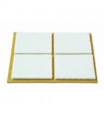 Deslizadores De Fieltro Adhesivos Rectangulares Blancos 44 x 38 MM 4 Unidades