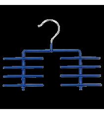 Percha Antideslizante Para Corbatas Azul