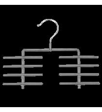 Percha Antideslizante Para Corbatas Gris