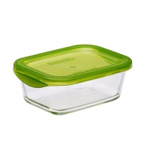 Tupper De Vidrio Rectangular Con Tapa 197 CL