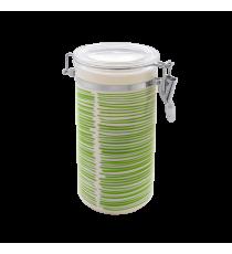 Bote De Cocina Hermético Decorado Verde 1 L