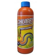 Desatascador Químico Tuberías Chubby Profesional 750 GR