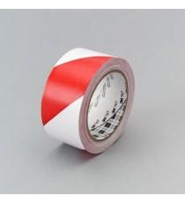 Cinta De Señalización Blanca Y Roja Tesa 50 MM