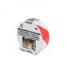 Cinta De Señalización Reflectante PVC Roja Blanca 50MM