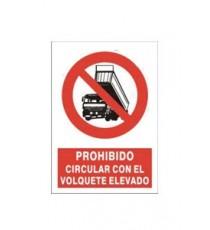 "Señal ""Prohibido Bascular"" 42 x 30 cm PVC"