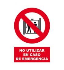 "Señal ""No entrar en caso de emergencia"" 42 x 30 cm PVC"