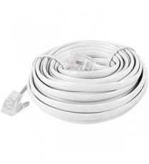 Cable Telefónico Liso M-M Blanco 4,5 M