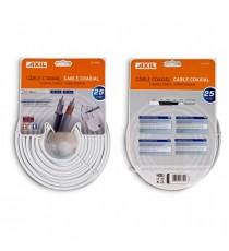 Cable Coaxial Blanco 19VAtC Rollo 25 Metros