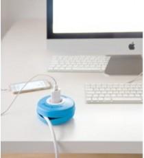 Enrollacable Roller 3x1,5 mm2 Azul 2 Metros