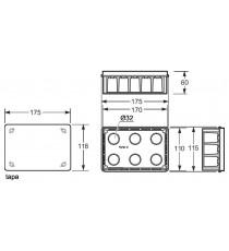 Caja empotrar paredes huecas 160x100x50 mm