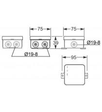 Caja Estanca Flexible IP55 75X75X42 mm