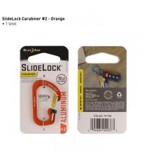 Mosquetón Pequeño Slidelock Aluminio Naranja