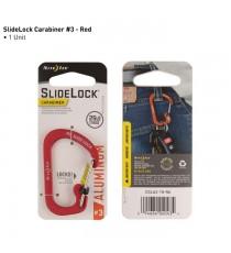 Mosquetón Mediano Slidelock Aluminio Rojo