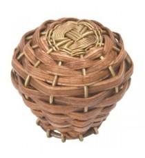 Pomo Bambú Trenzado Diseño Colonial