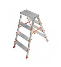 Escalera De Doble Subida Aluminio Filo 7 Peldaños