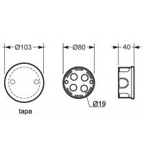 Caja De Empalme Tapa Con Garra Metálica 80 MM