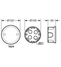 Caja De Empalme Tapa Con Garra Metálica 100 MM