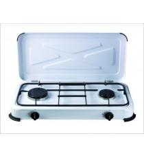 Cocina Portátil A Gas 2 Fuegos 1,4 KW