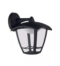 Aplique Exterior Decorativo Led Negro Soporte Superior