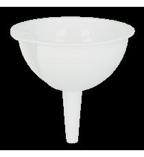 Embudo Plástico Blanco 14 CM