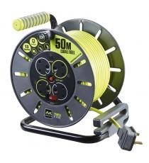 Enrollacables 4 Tomas Master Plug Pro-XT 50 Metros