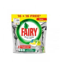 Fairy Platinum Todo En Uno 32 Cápsulas Limón