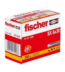 Taco De Nylon SX 6x 30 Fischer 100 Unidades