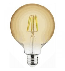 Lámpara Globo De Filamento Led E27 6W 2200 K