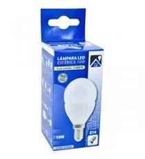 Lámpara Led Esférica E14 10W 3000K