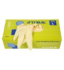 GUANTE LATEX DESECHABLE SIN POLVO 100 UDS