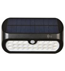 Aplique De Exterior Solar Negro Sensor Movimiento