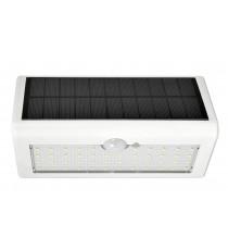 Aplique Solar Led Blanco Con Sensor De Movimiento