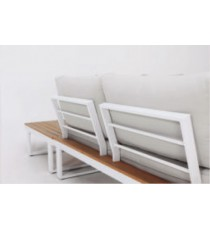 Conjunto Rinconero Madera Y Aluminio Blanco Tunez