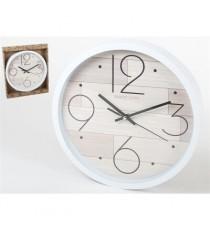 Reloj De Cuarzo Blanco Pullman 30,5 CM