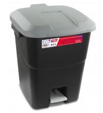Contenedor de Residuos Negro con Pedal 50 Litros