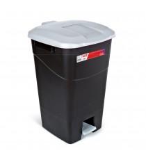 Contenedor de Residuos Negro con Pedal 60 Litros