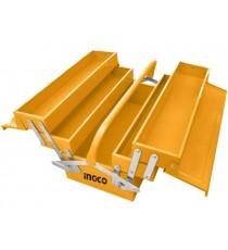 Caja de Herramientas Metálica Amarilla 3 Estantes 400X200X195MM