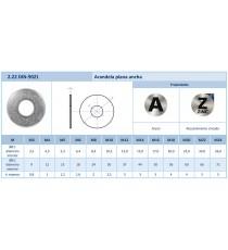 Arandela Din 9021 H.Zinc M8 500 UDS