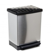 Cubo De Basura Metalizado 25 Litros TREND