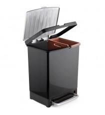 Cubo De Reciclaje Negro 17L + 8 L