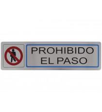 """Placa Informativa adhesiva """"Prohibido el paso"""""""