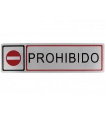 "Placa Informativa adhesiva ""Prohibido"""