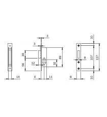 Cerradura Para Perfil Sin Cilindro Ovalado Iseo E15