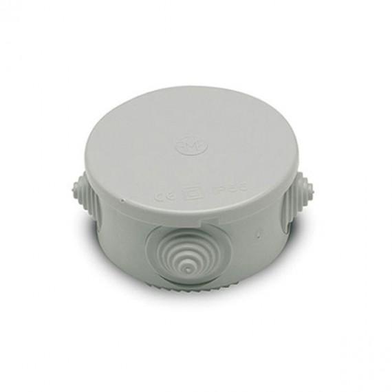 Caja Estanca Redonda IP55 Con 4 Conos 80 x 50 MM