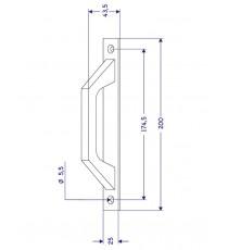 Asa Con Placa Aluminio Plata